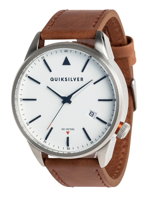 0 The Timebox Leather - Montre analogique Gris EQYWA03024 Quiksilver