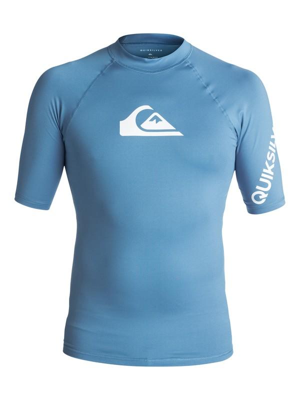 0 All Time Short Sleeve Rashguard Blue EQYWR03033 Quiksilver