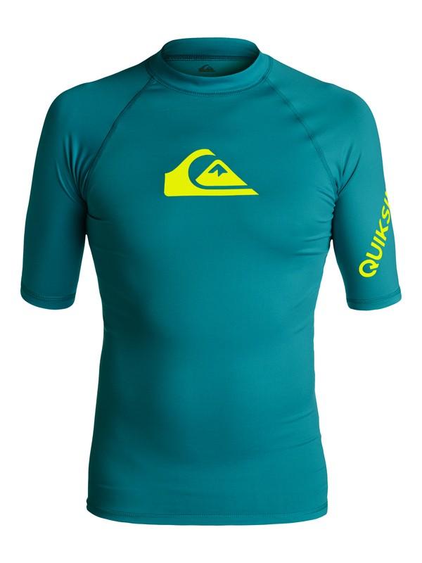 0 All Time - Rash Vest met korte mouwen UV-bescherming Blue EQYWR03033 Quiksilver