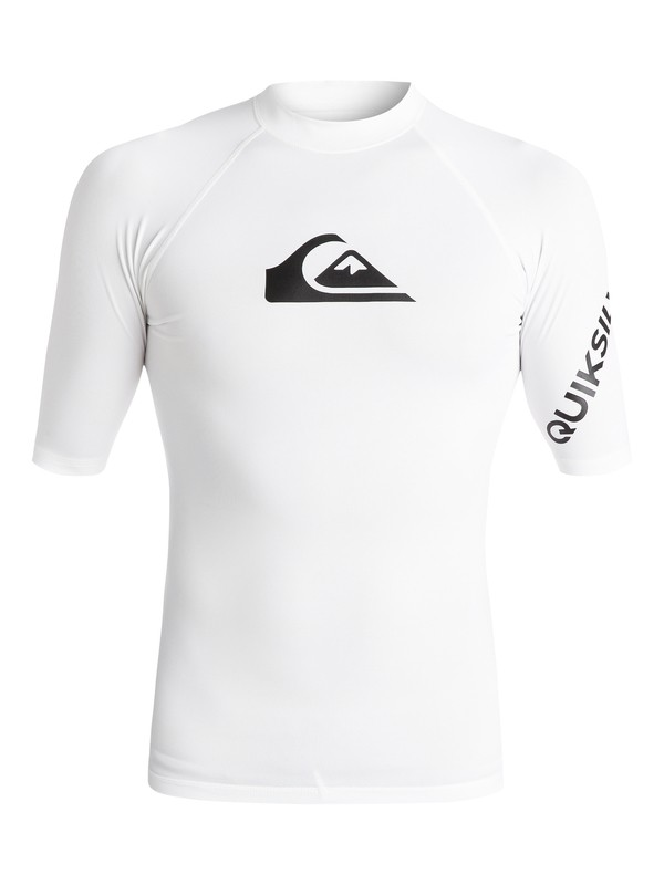 0 All Time Short Sleeve UPF 50 Rashguard White EQYWR03033 Quiksilver