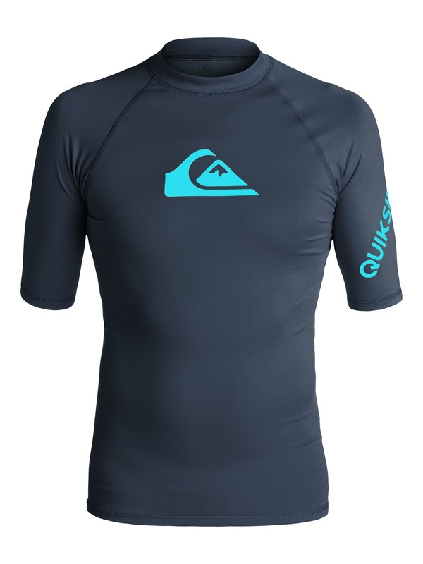0 All Time Short Sleeve Rashguard Blue EQYWR03033 Quiksilver