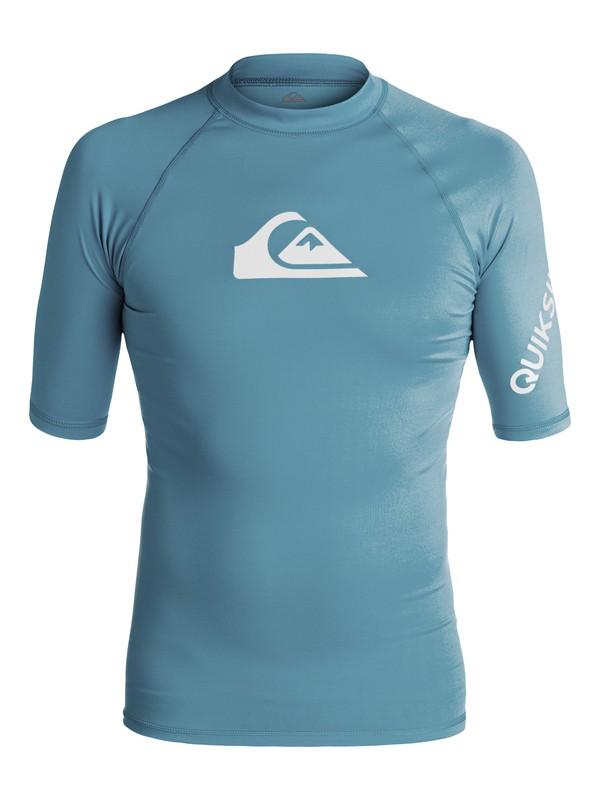 0 All Time Short Sleeve UPF 50 Rashguard Blue EQYWR03033 Quiksilver