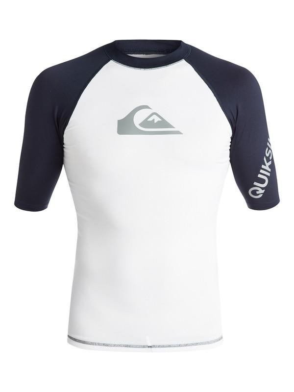 0 All Time  - Rash Vest met Korte Mouwen en UPF 50 White EQYWR03033 Quiksilver