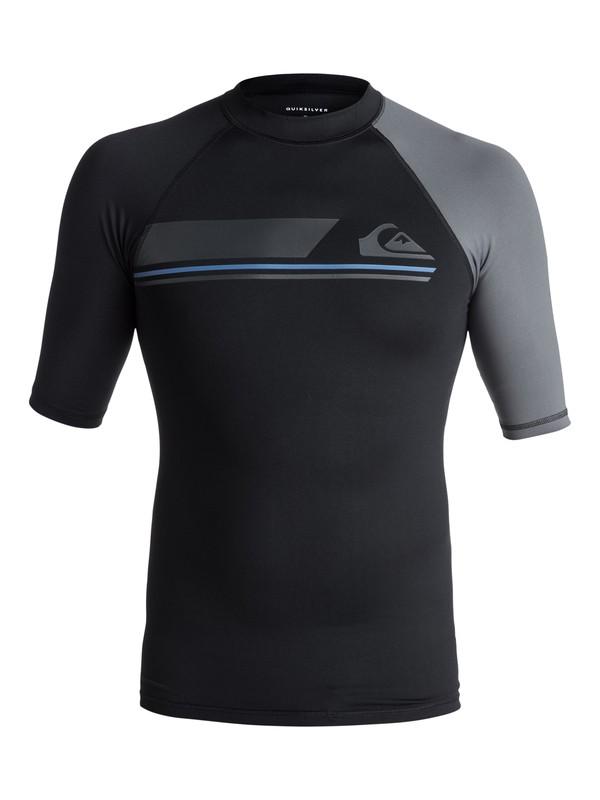 0 Active - Rash Vest met korte mouwen UV-bescherming Black EQYWR03073 Quiksilver