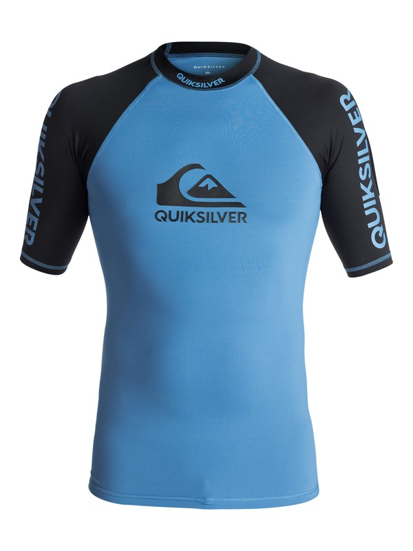 0 On Tour - Rash Vest met Korte Mouwen en UPF 50 Blue EQYWR03075 Quiksilver