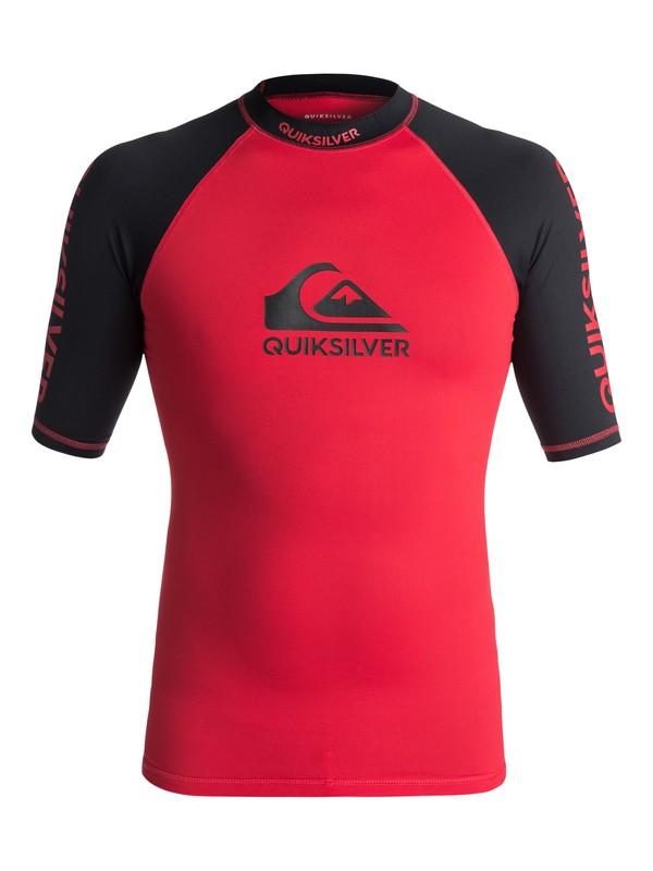 0 On Tour - Rash Vest met korte mouwen UV-bescherming Red EQYWR03075 Quiksilver
