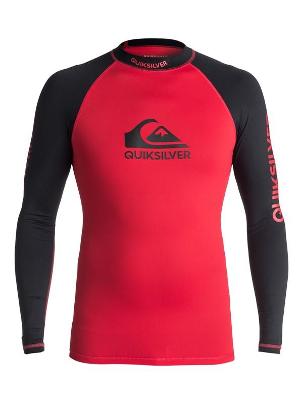 0 On Tour - Rash Vest met lange mouwen UV-bescherming Red EQYWR03076 Quiksilver