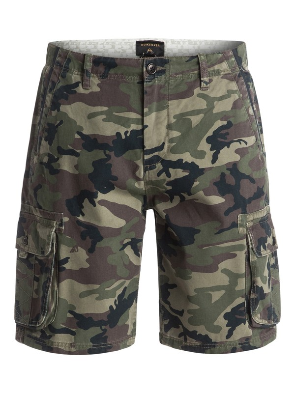 "0 Everyday Deluxe 21"" - Short cargo Vert EQYWS03250 Quiksilver"