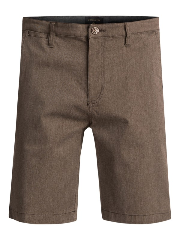 0 Everyday Union Stretch Chino Shorts Brown EQYWS03253 Quiksilver