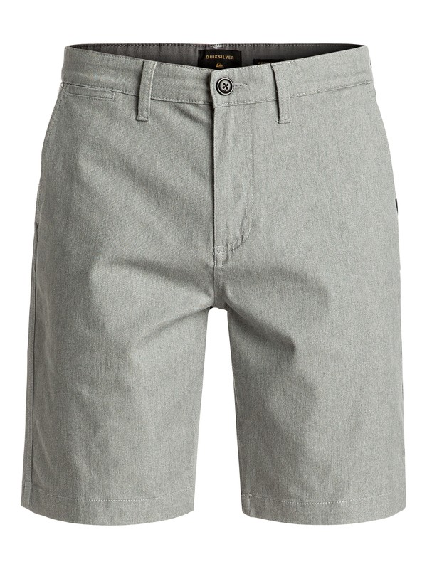 0 Everyday Union Stretch Chino Shorts Grey EQYWS03253 Quiksilver