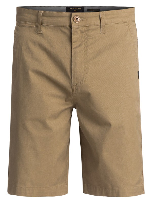 0 Everyday Union Stretch Chino Shorts Beige EQYWS03253 Quiksilver