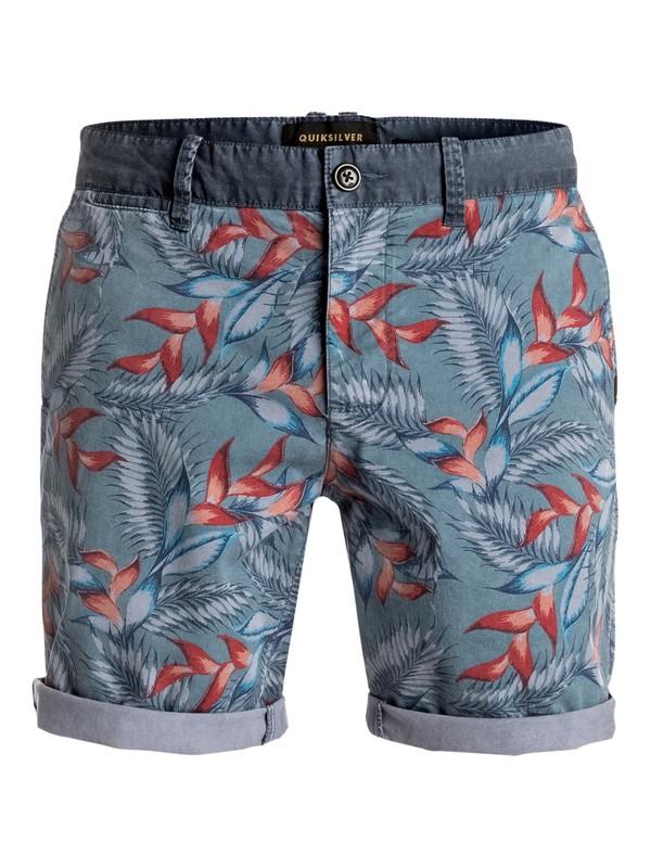 0 Paradise Point - Short en sergé Bleu EQYWS03327 Quiksilver