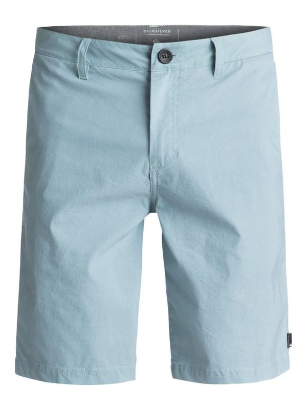"0 Washed Amphibian 20"" Amphibian Shorts Blue EQYWS03364 Quiksilver"