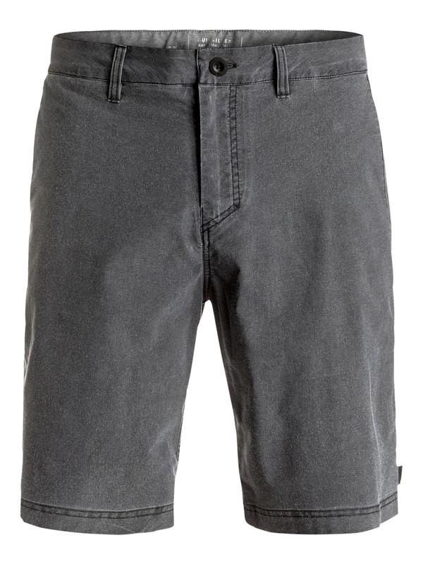 "0 Washed Amphibian 20"" Amphibian Shorts Black EQYWS03364 Quiksilver"