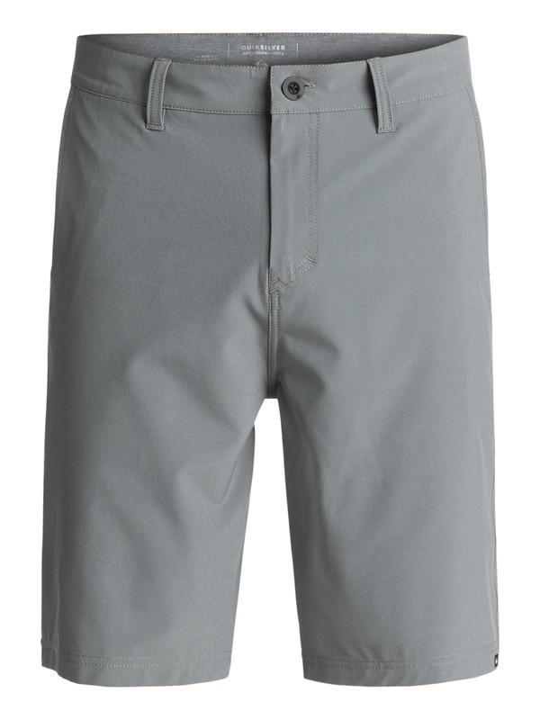 "0 Solid Amphibian 21"" Amphibian Shorts Black EQYWS03366 Quiksilver"