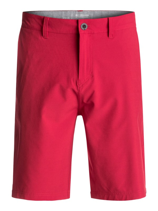 "0 Solid Amphibian 21"" Amphibian Shorts Red EQYWS03366 Quiksilver"