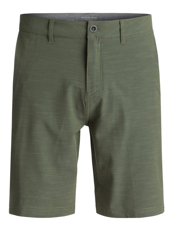 "0 Slubbed Amphibian 21"" Amphibian Shorts Green EQYWS03373 Quiksilver"