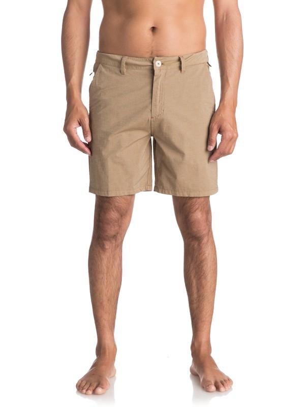 "0 Echo Surfwash Amphibian 18"" Amphibian Shorts Beige EQYWS03432 Quiksilver"