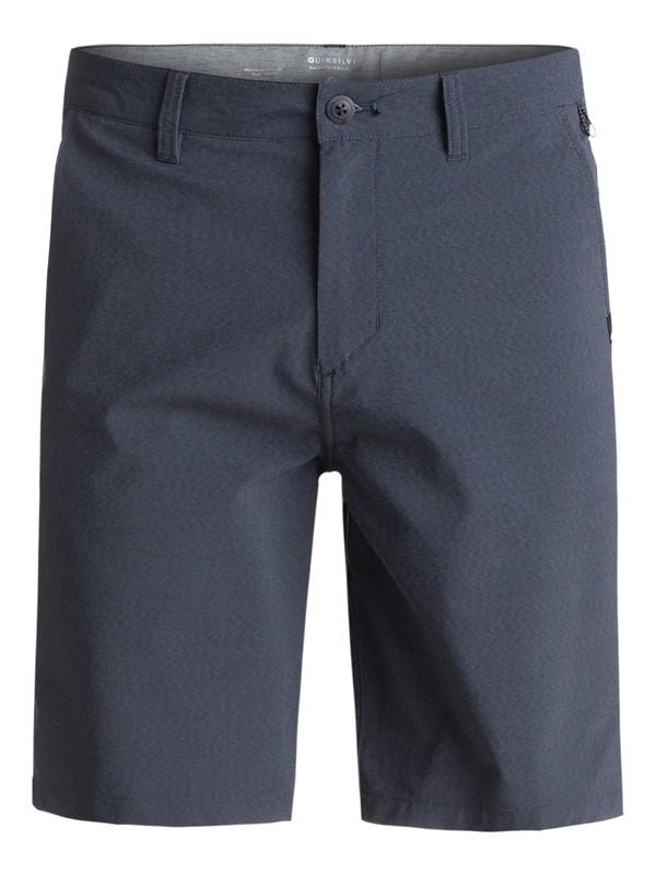 "0 Transit Twill Amphibian 20"" Amphibian Shorts Blue EQYWS03434 Quiksilver"