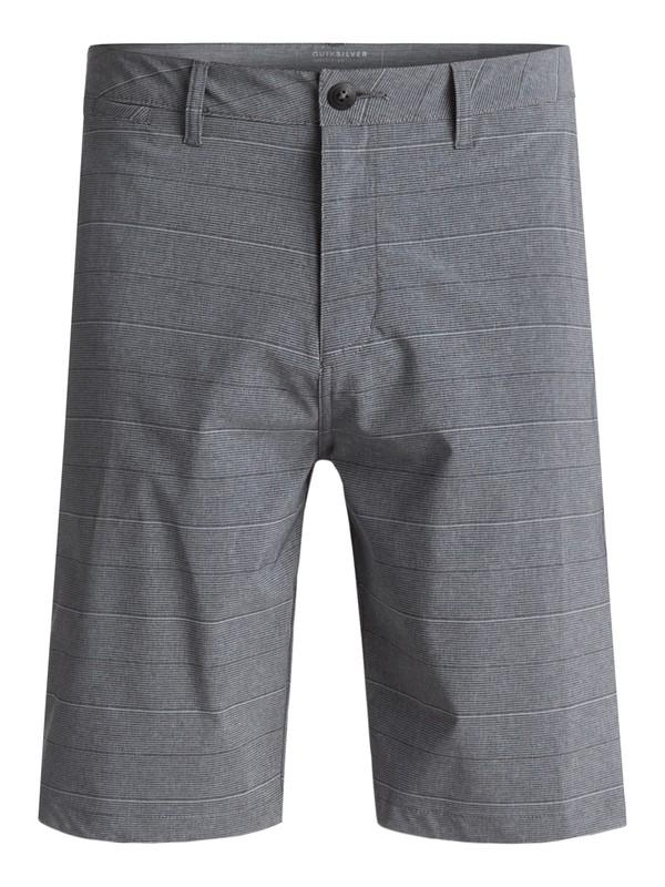 "0 Union Stripe Amphibian 21"" Amphibian Shorts Black EQYWS03437 Quiksilver"