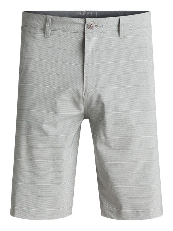 "0 Union Stripe Amphibian 21"" Amphibian Shorts Grey EQYWS03437 Quiksilver"