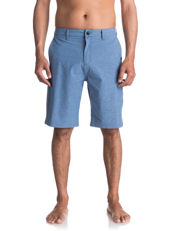 "0 Union Heather Amphibian 21"" Amphibian Shorts Blue EQYWS03440 Quiksilver"