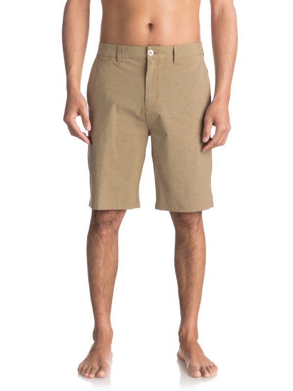 "0 Union Heather Amphibian 21"" Amphibian Shorts Beige EQYWS03440 Quiksilver"