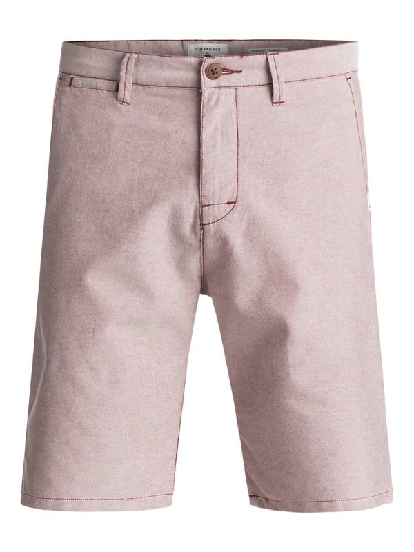 0 Krandy Oxford Chino Shorts Red EQYWS03448 Quiksilver