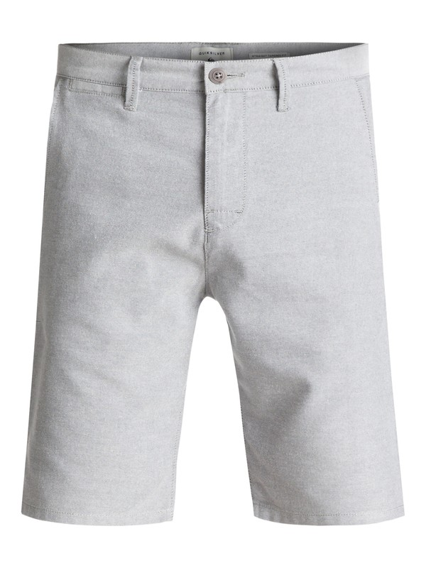 0 Krandy Oxford Chino Shorts Grey EQYWS03448 Quiksilver
