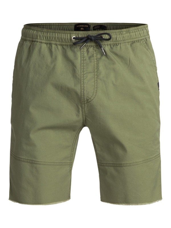 0 Foxoy Straight Tapered Fit Shorts Green EQYWS03461 Quiksilver