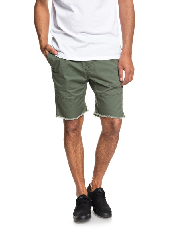0 Men's Foxoy Straight Tapered Shorts Brown EQYWS03461 Quiksilver