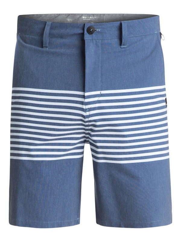 "0 Men's Echo Stripe Amphibian 18"" Shorts Blue EQYWS03466 Quiksilver"