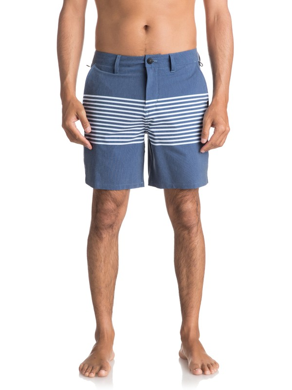 "0 Men's Echo Stripe Amphibian 18"" Shorts  EQYWS03466 Quiksilver"