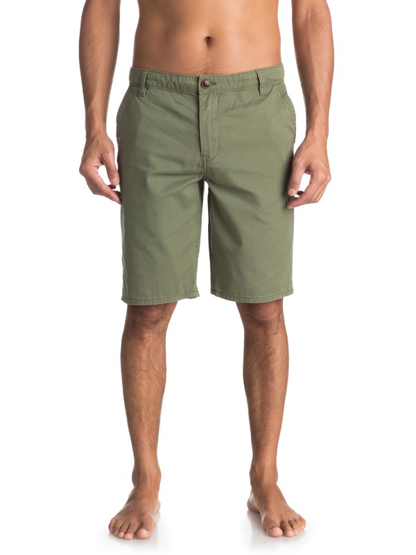 0 Everyday Light Chino Shorts Green EQYWS03468 Quiksilver