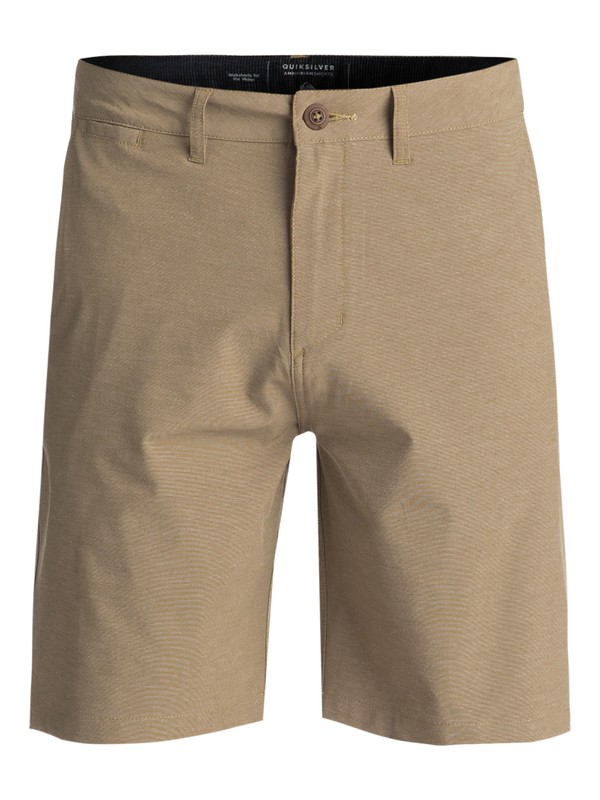 "0 Union Heather 20"" Amphibian Shorts Beige EQYWS03488 Quiksilver"