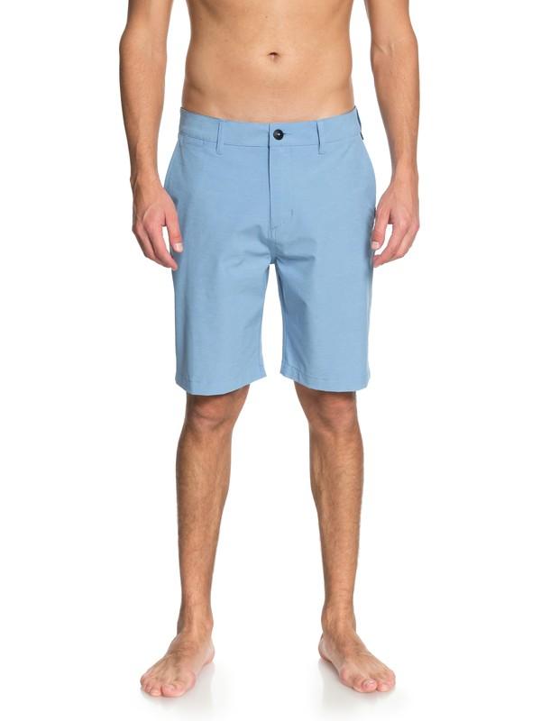 """0 Men's Union Heather 20"""" Amphibian Shorts Blue EQYWS03488 Quiksilver"""