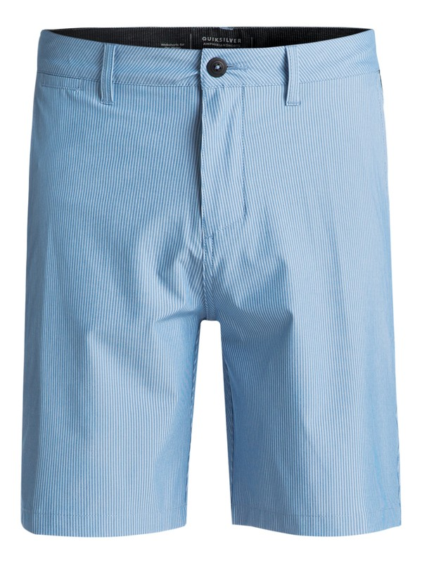 "0 Union Pinstripe 19"" Amphibian Shorts Blue EQYWS03490 Quiksilver"