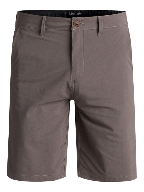 "0 Transit Twill 20"" Amphibian Shorts Brown EQYWS03494 Quiksilver"