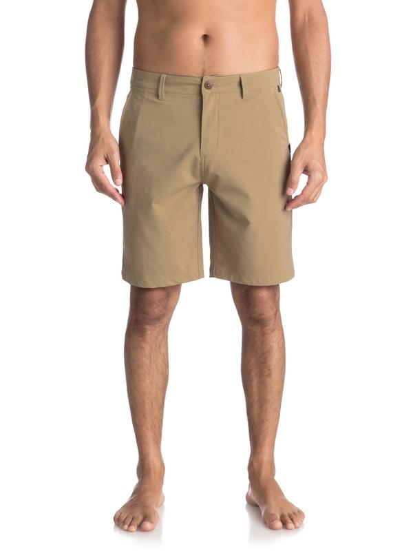 "0 Men's Transit Twill Amphibian 20"" Amphibian Shorts Beige EQYWS03494 Quiksilver"