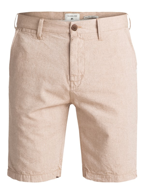 0 Krandy Oxford Chino Shorts Brown EQYWS03502 Quiksilver