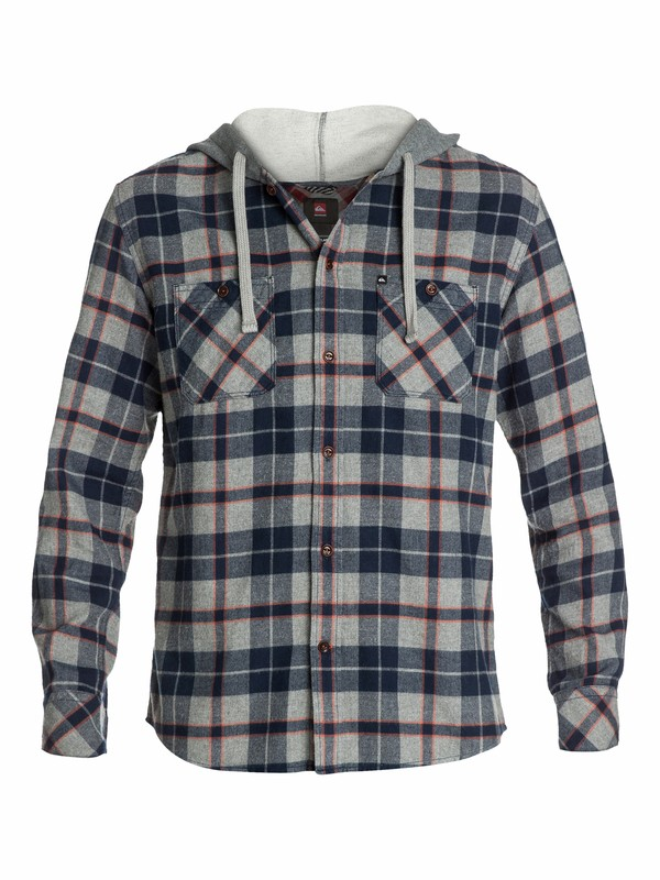 0 Puffer Hooded Long Sleeve Flannel Shirt  EQYWT03006 Quiksilver