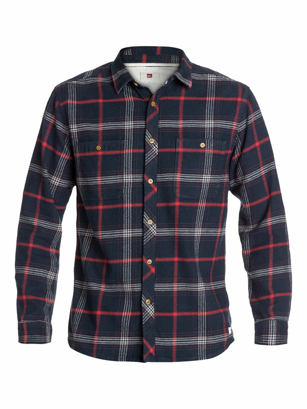 0 The Flannel Long Sleeve Flannel Shirt  EQYWT03034 Quiksilver