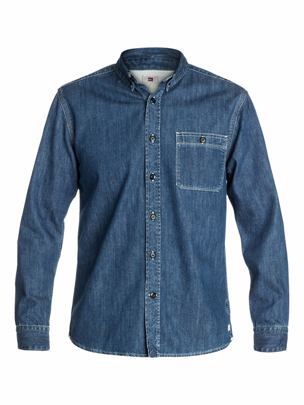 0 Denim Long Sleeve Shirt  EQYWT03037 Quiksilver