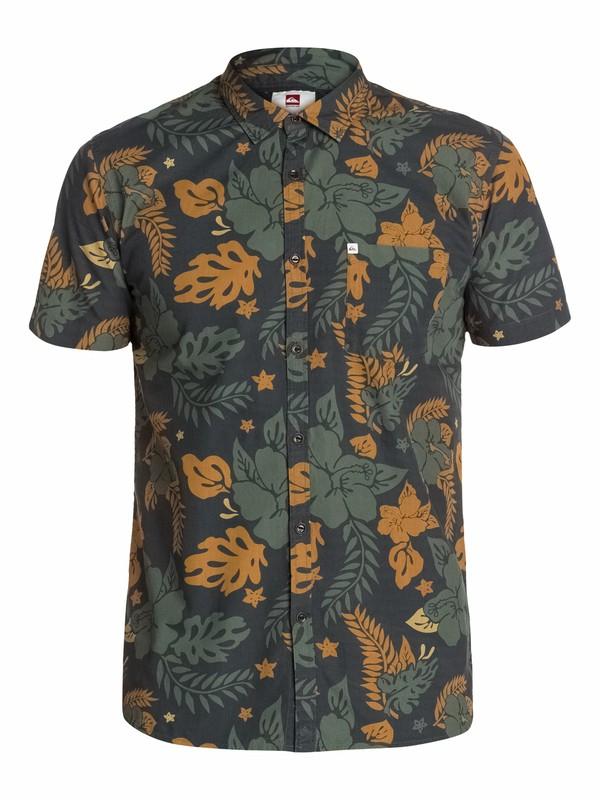 0 Big Flower Short Sleeve Shirt  EQYWT03059 Quiksilver