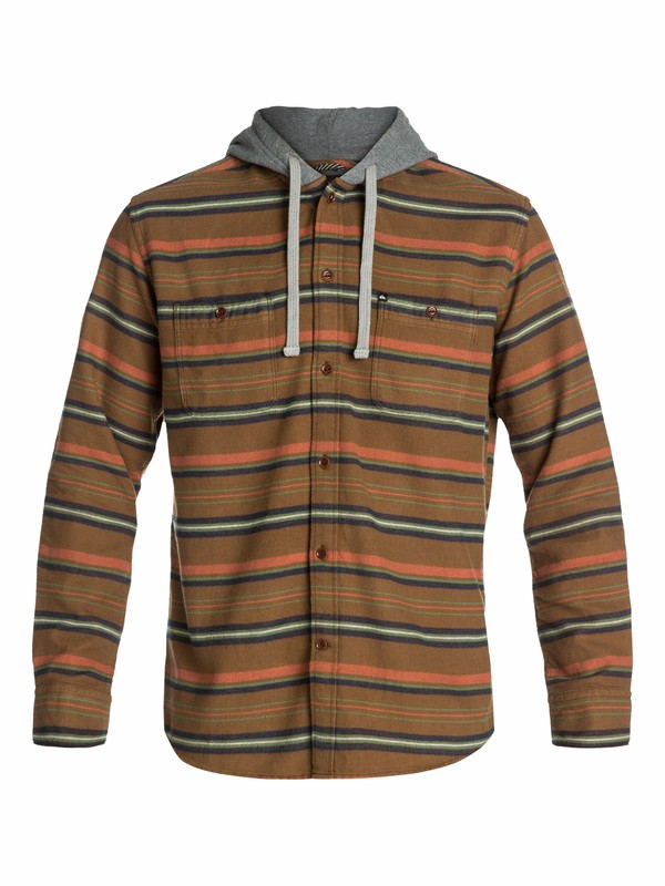 0 Pelican Long Sleeve Flannel Shirt  EQYWT03074 Quiksilver