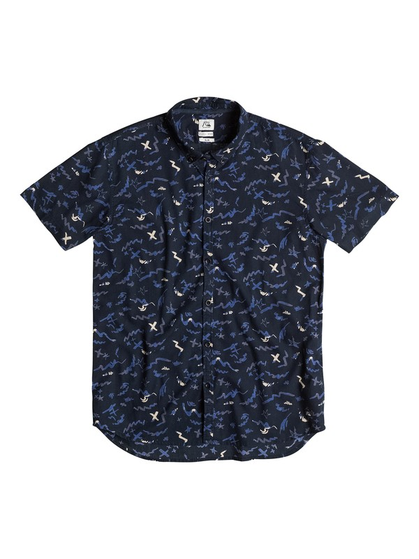 0 Warsplash Short Sleeve Slim Fit Shirt  EQYWT03152 Quiksilver