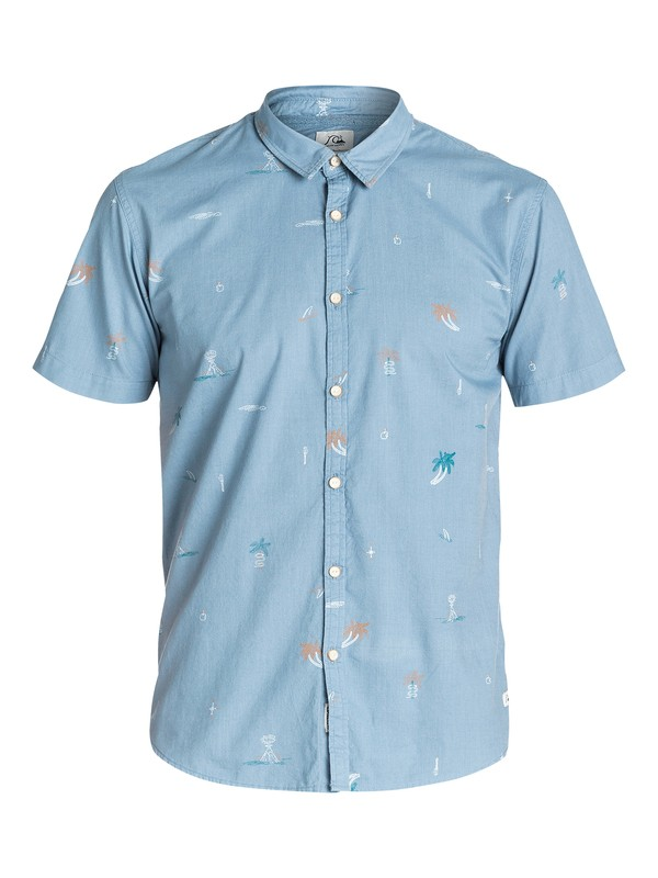 0 Stranded  Short Sleeve Slim Fit Shirt  EQYWT03155 Quiksilver