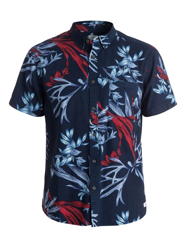 0 Scorpian Forest Short Sleeve Modern Fit Shirt  EQYWT03202 Quiksilver