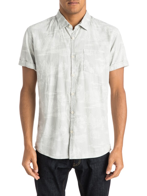 0 Pyramid Point Shirt Short Sleeve Modern Fit Shirt  EQYWT03209 Quiksilver