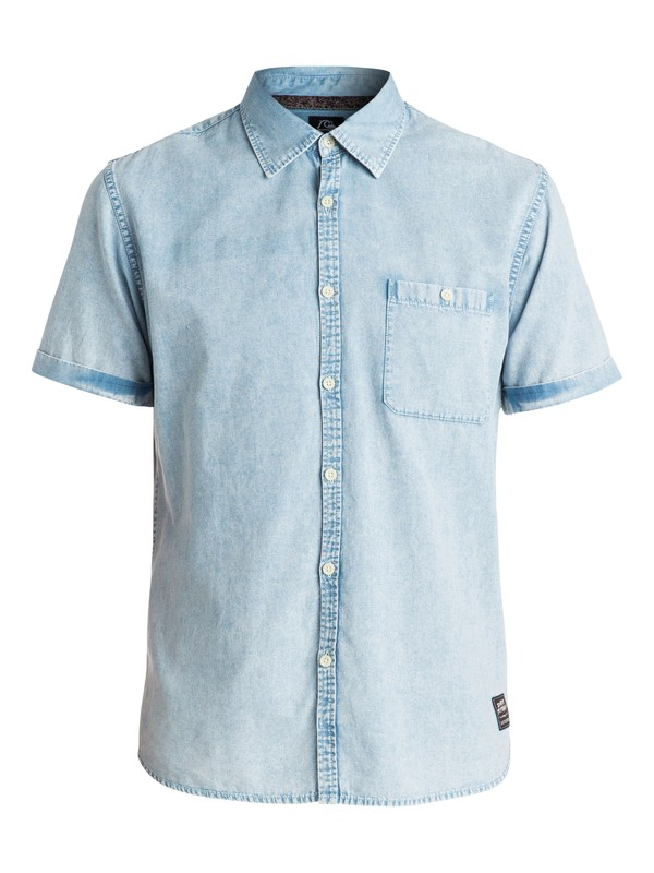0 Rockvoks Chambray Short Sleeve Slim Fit Shirt  EQYWT03221 Quiksilver